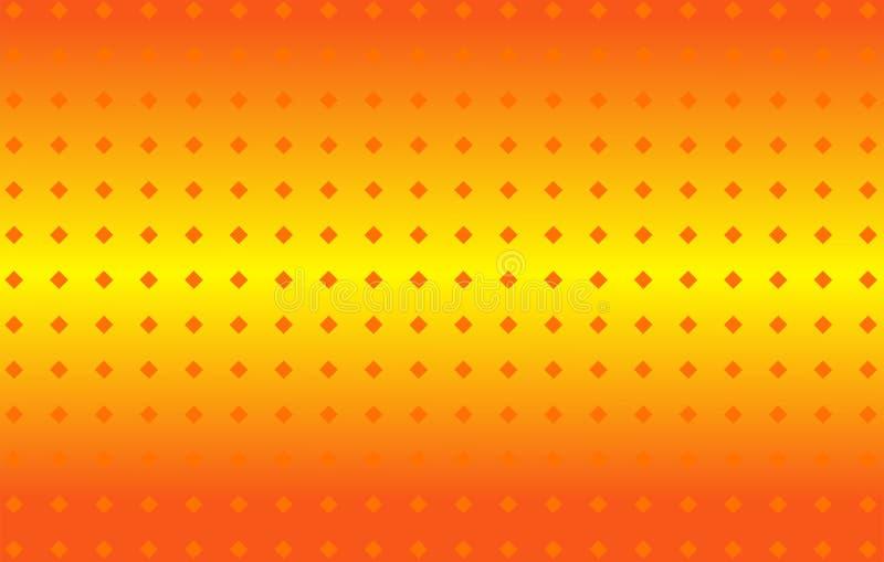 Abstrakcjonistyczny pomarańczowego koloru żółtego gradientu światła sznurka wektoru tło obraz royalty free