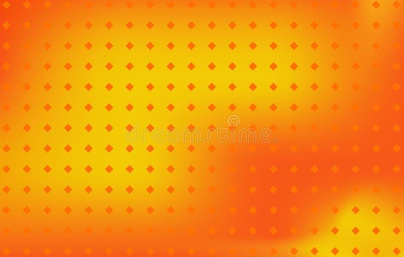 Abstrakcjonistyczny pomarańczowego koloru żółtego koloru poly wektoru tło zdjęcia stock