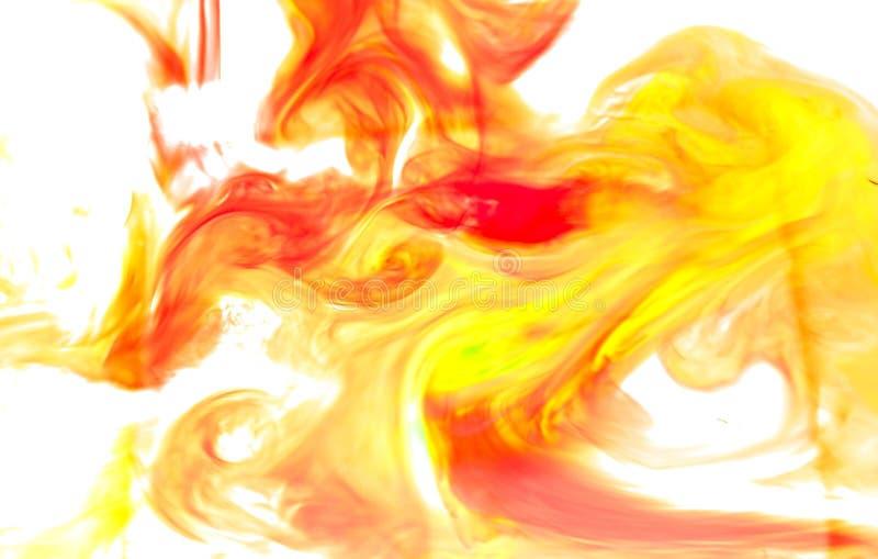 Abstrakcjonistyczny Pomarańczowej czerwieni odosobniony tło fotografia royalty free