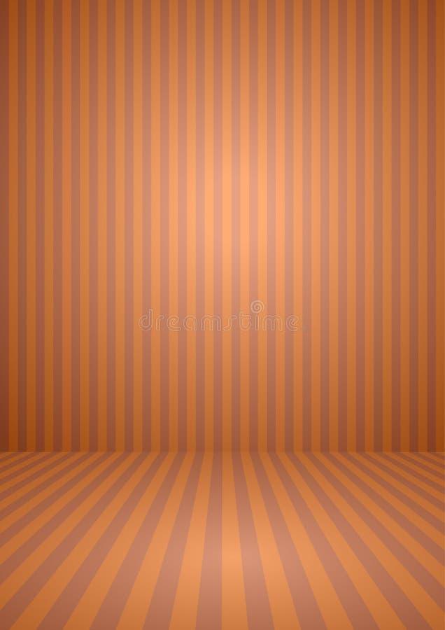 Abstrakcjonistyczny pomarańczowy koloru rocznik paskował pokój, tło dla Halloween tematu pojęcia ilustracji
