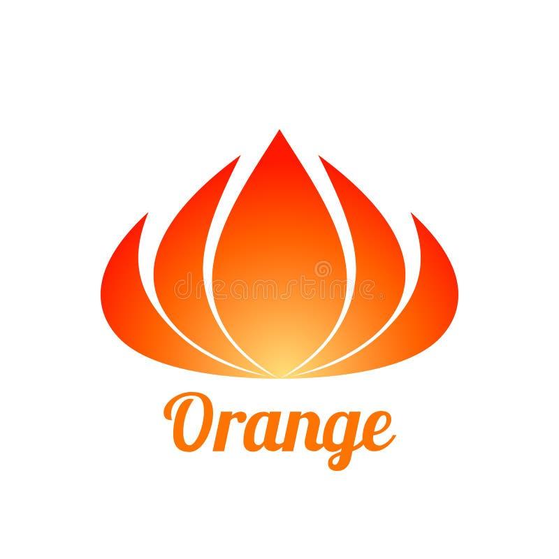 Abstrakcjonistyczny pomarańczowy kwiatu loga projekt ilustracja wektor