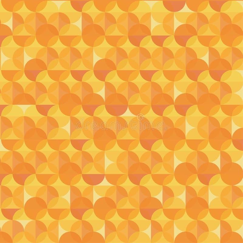 Abstrakcjonistyczny pomarańczowy nowożytny geometryczny tło royalty ilustracja