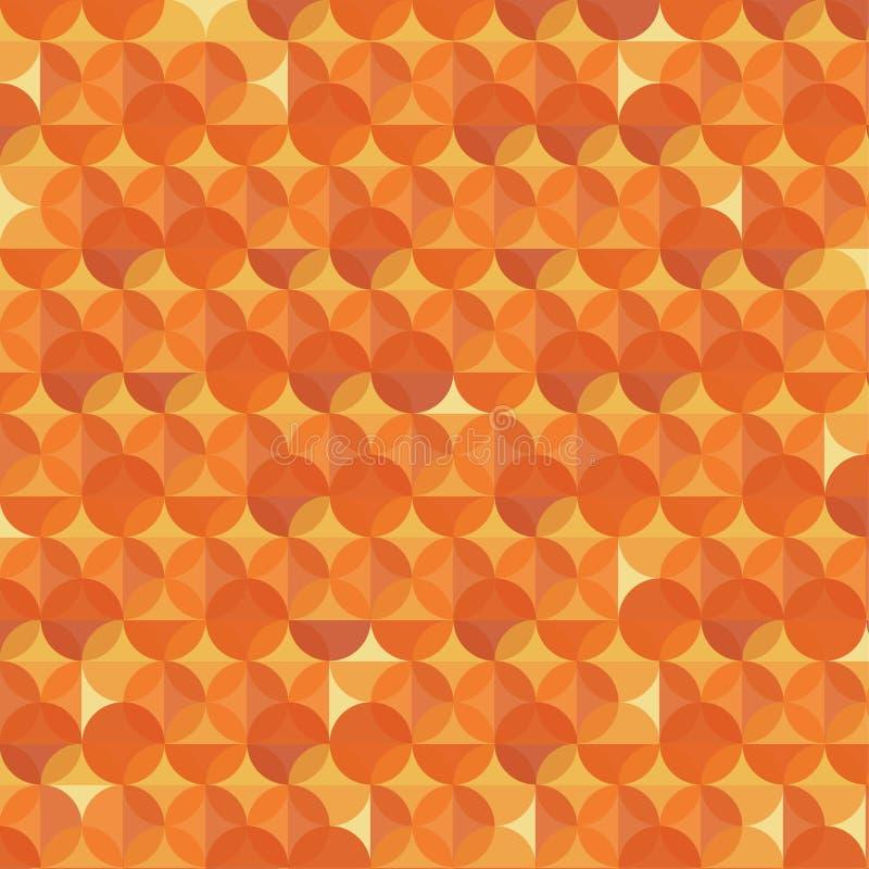 Abstrakcjonistyczny pomarańczowy nowożytny geometryczny tło ilustracji