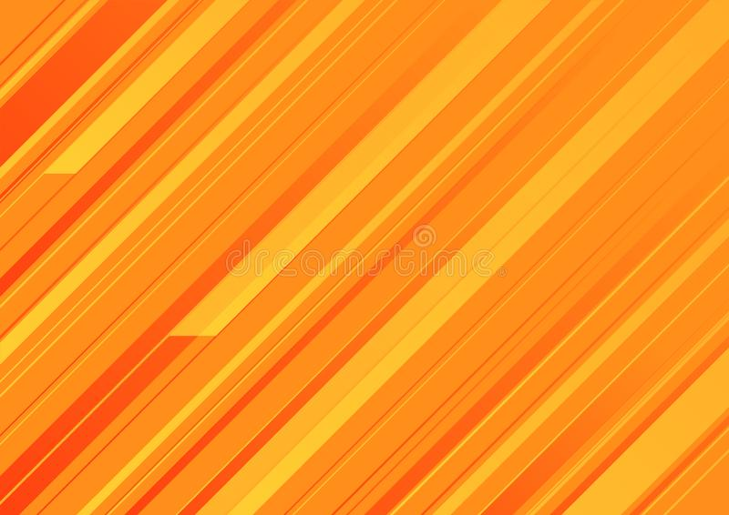 Abstrakcjonistyczny pomarańczowy tło z pomarańczowymi lampasami royalty ilustracja