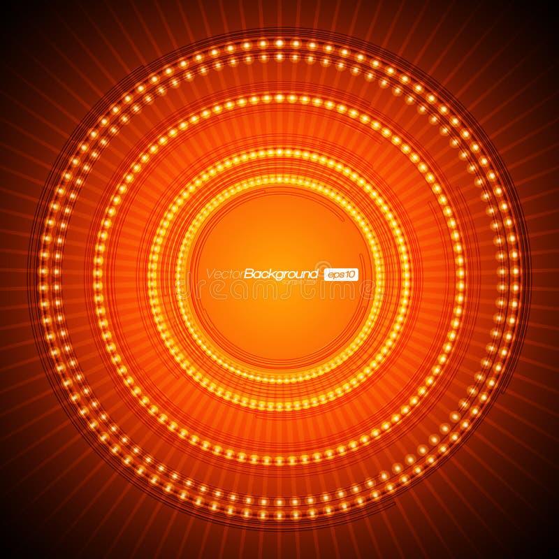 Abstrakcjonistyczny Pomarańczowy Wektorowy Tło ilustracja wektor