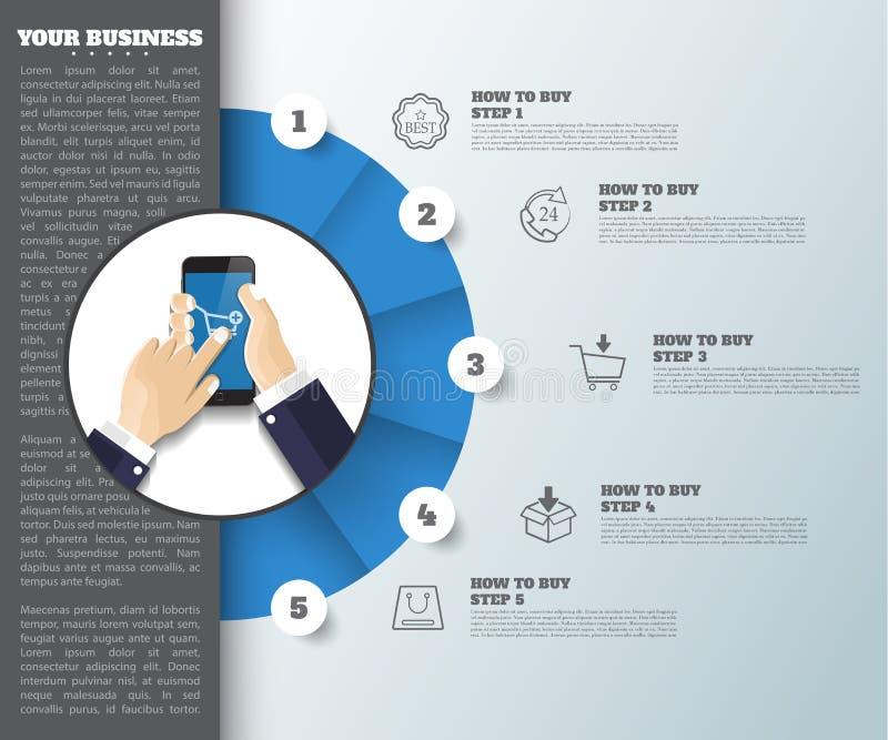 Abstrakcjonistyczny pomysłu tło biznesowy infographic może używać ilustracja wektor