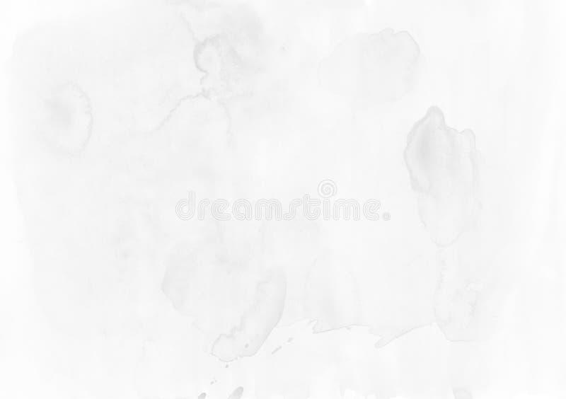Abstrakcjonistyczny popielaty akwareli tło Kolor bryzga o ilustracja wektor