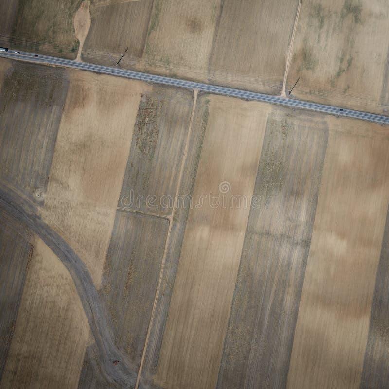 Abstrakcjonistyczny Powietrzny wizerunek Kalifornia ziemia uprawna obraz royalty free