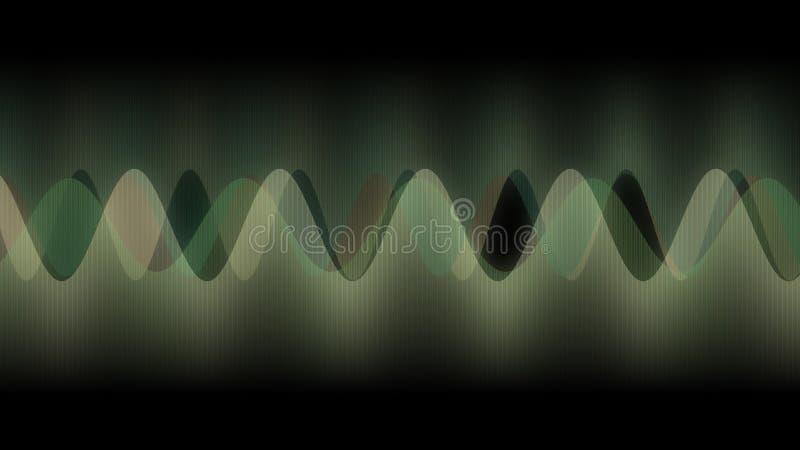 Abstrakcjonistyczny projekt, tekstura Wieloskładnikowe pionowo linie, Muzyczne fale, widmo, Jasnozieloni colours royalty ilustracja