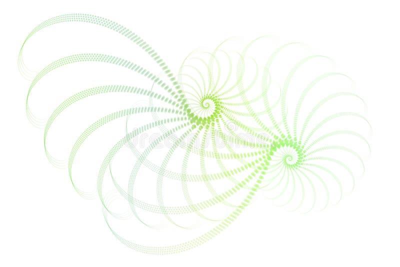abstrakcjonistyczny projekta fractal zieleni biel royalty ilustracja