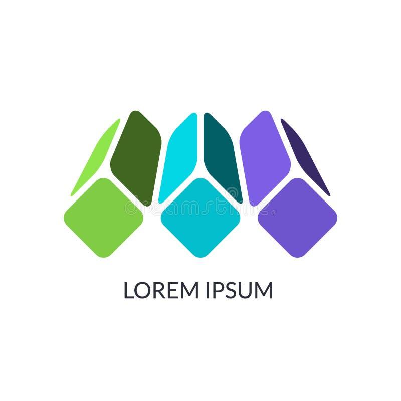 Abstrakcjonistyczny projekta pojęcie, może używać jako korporacyjny logo royalty ilustracja