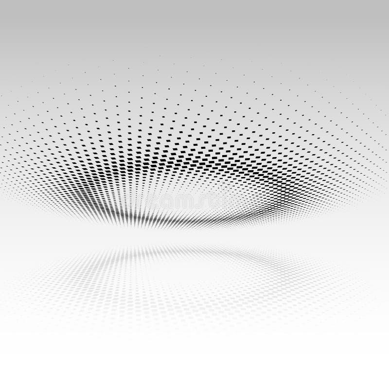 Abstrakcjonistyczny projekta tło z halftone kropkami ilustracji