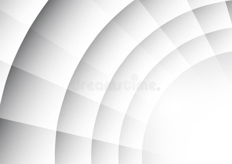 Abstrakcjonistyczny promieniomierz okręgu tło ilustracja wektor
