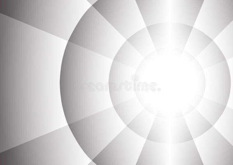 Abstrakcjonistyczny promieniomierz okręgu tło ilustracji