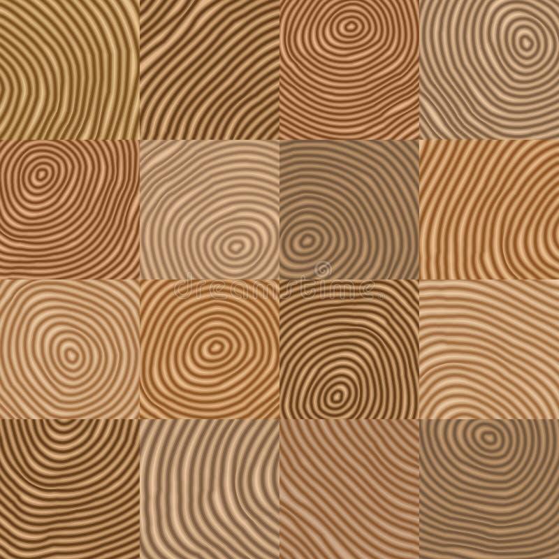 Abstrakcjonistyczny prosty geometryczny drewniany jak wektoru wzór - backgrou ilustracji