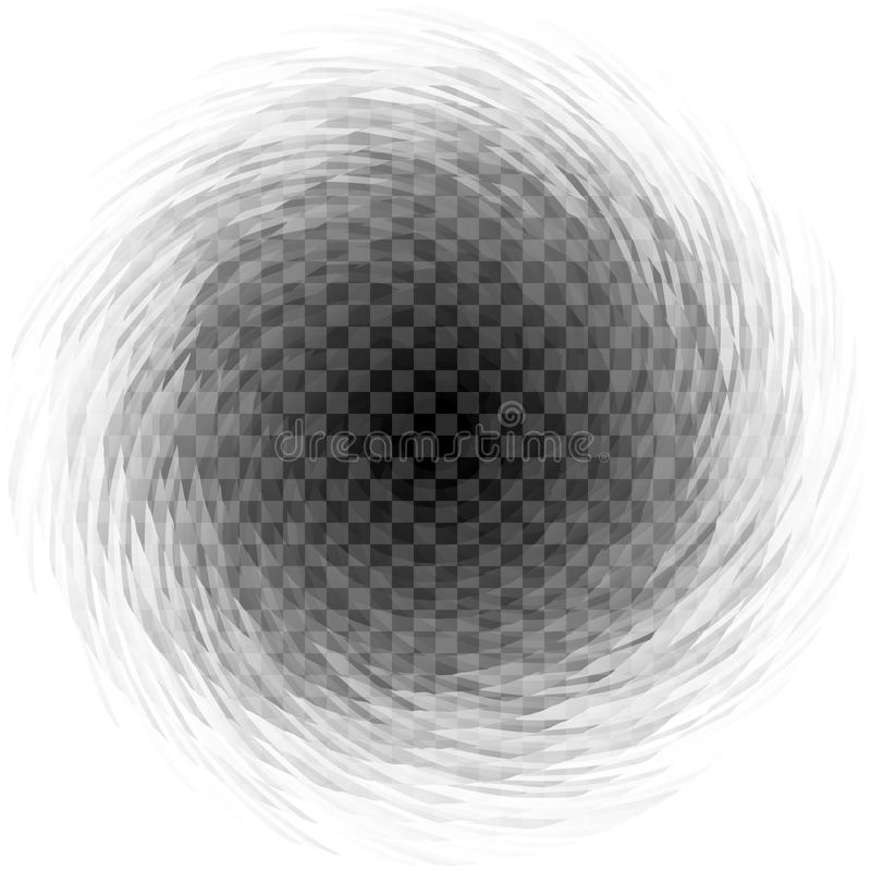 Abstrakcjonistyczny przejrzysty ślimakowaty kłębowisko na w kratkę tle ilustracja wektor