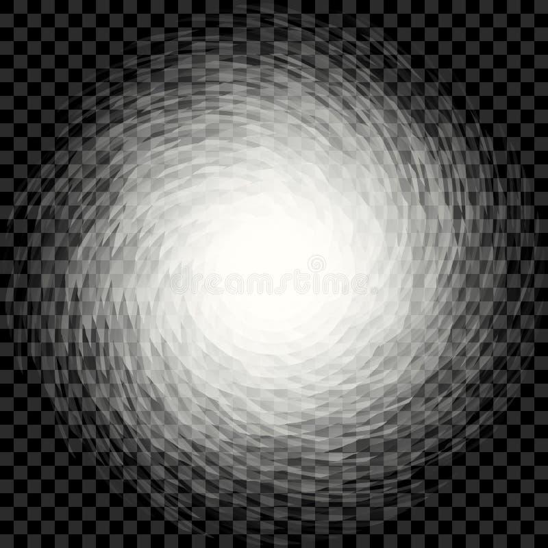 Abstrakcjonistyczny przejrzysty ślimakowaty kłębowisko na w kratkę tle ilustracji