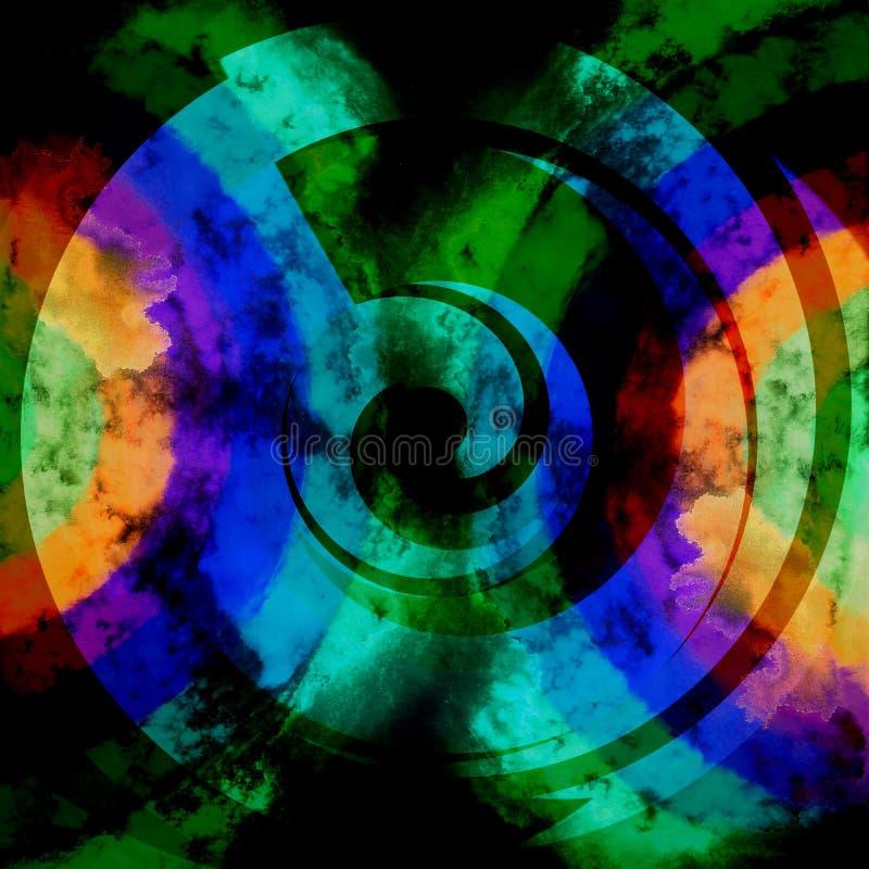 Abstrakcjonistyczny Psychodeliczny Ciemnych kolorów tło ilustracja wektor