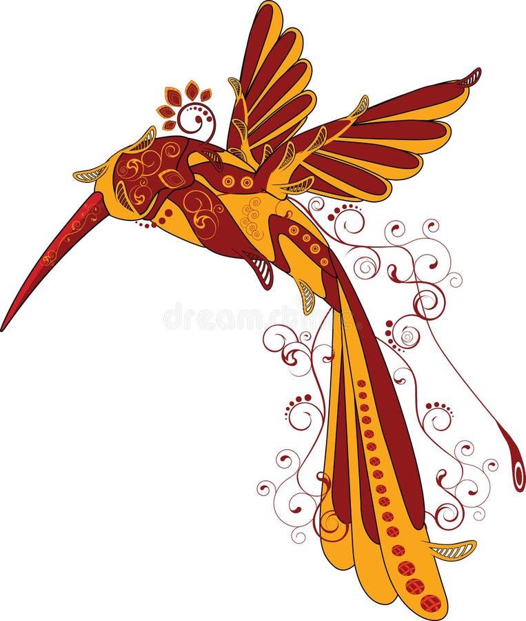 abstrakcjonistyczny ptak ilustracji
