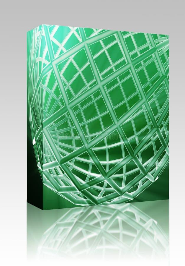abstrakcjonistyczny pudełkowaty kuli ziemskiej pakunku wireframe royalty ilustracja