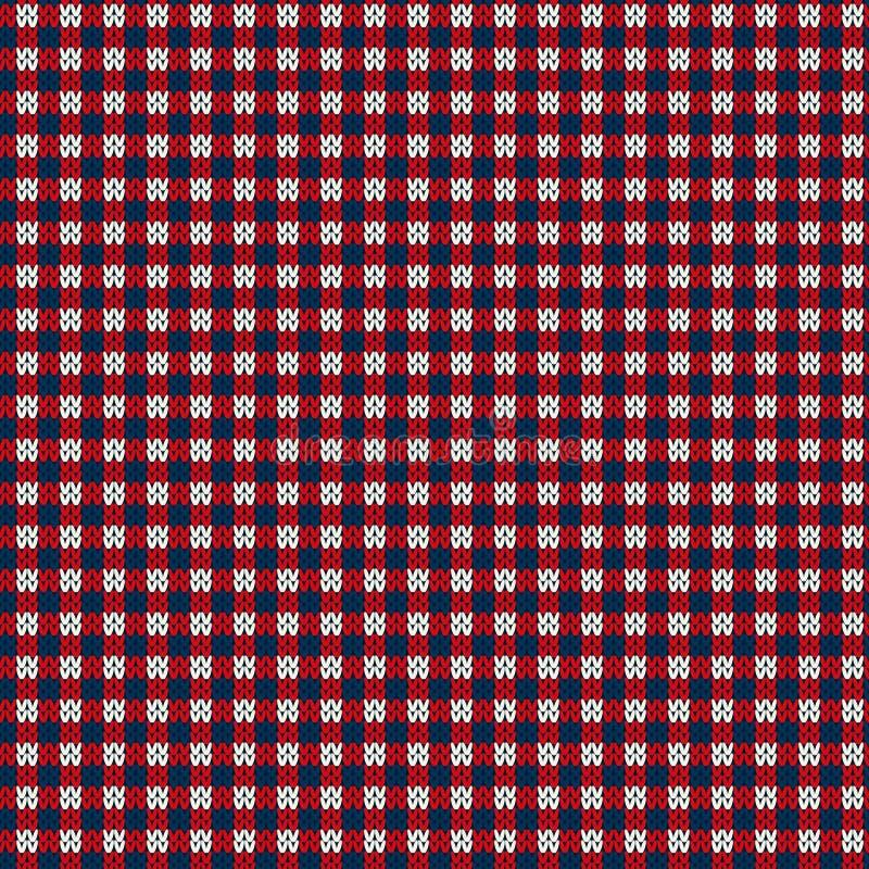 Abstrakcjonistyczny puloweru projekt trykotowy deseniowy bezszwowy ilustracja wektor