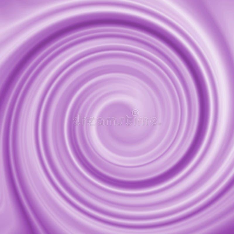 Abstrakcjonistyczny purpura zawijasa spirali mieszanki wzoru tło royalty ilustracja