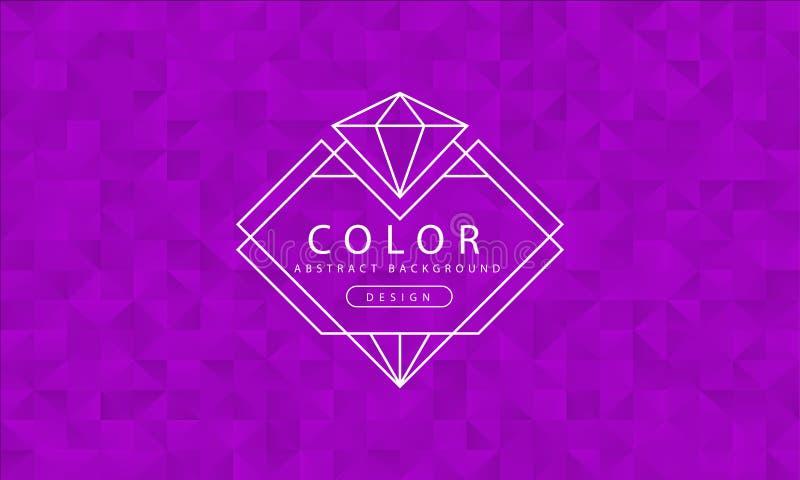 Abstrakcjonistyczny purpurowy tło, purpurowe tekstury, sztandar purpurowa tapeta, wielobok purpura barwi, wektorowa ilustracja royalty ilustracja