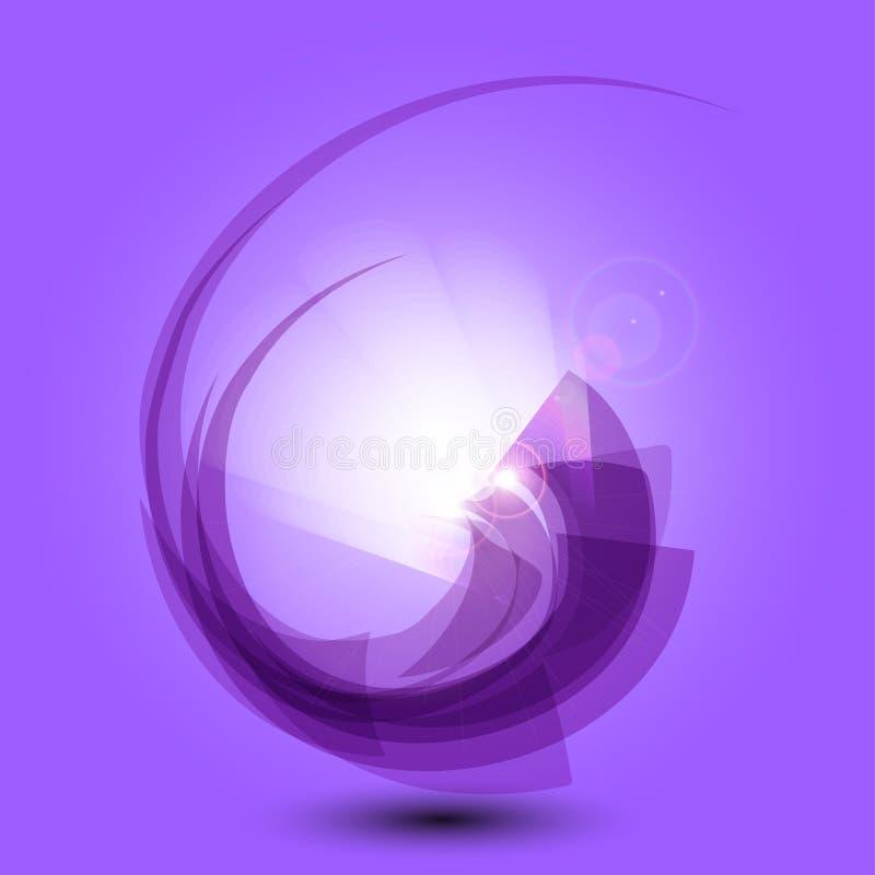 Abstrakcjonistyczny purpurowy tło z światłem ilustracja wektor