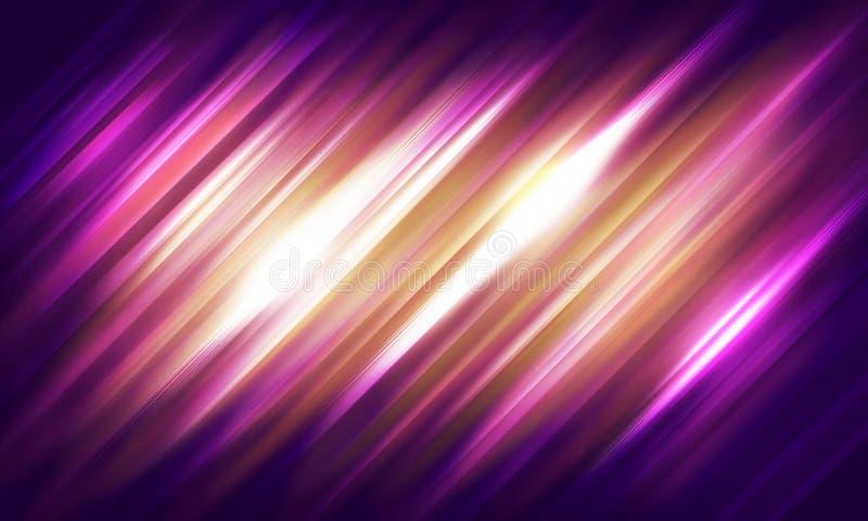 Abstrakcjonistyczny purpurowy tło z menchiami, światło białe obdziera, Wallpap ilustracji