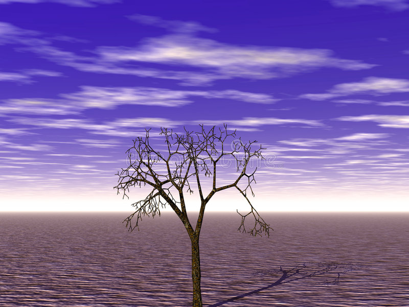 abstrakcjonistyczny pustynnienie royalty ilustracja