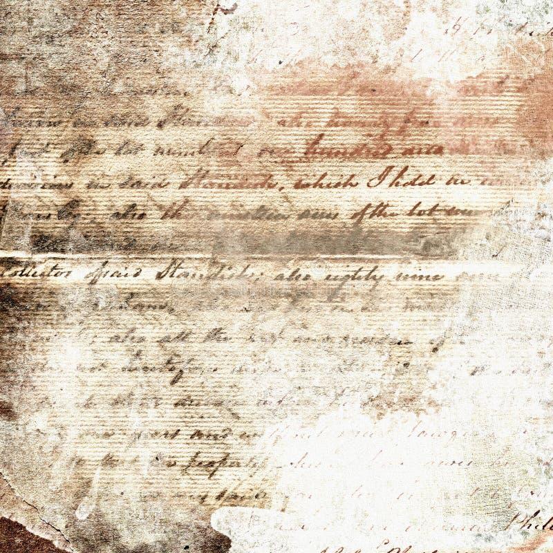 abstrakcjonistyczny ręcznie pisany stary papier zdjęcie stock