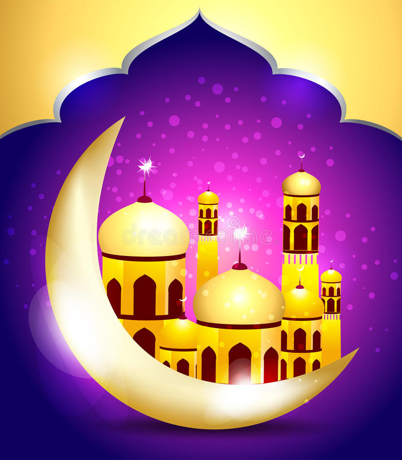 Abstrakcjonistyczny Ramadan mubarakh tło