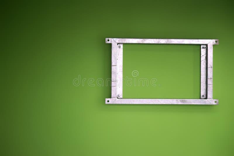 abstrakcjonistyczny ramowy metal obraz stock