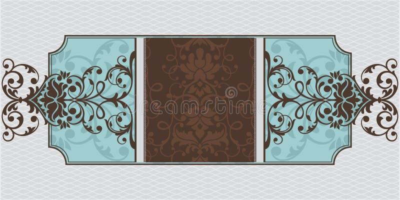 abstrakcjonistyczny ramowy ornamental ilustracja wektor
