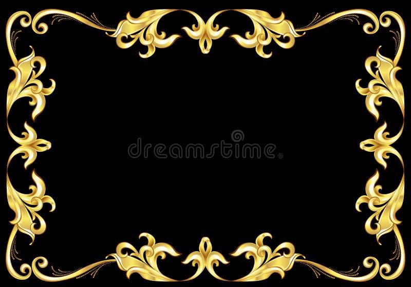 abstrakcjonistyczny ramowy złoto royalty ilustracja
