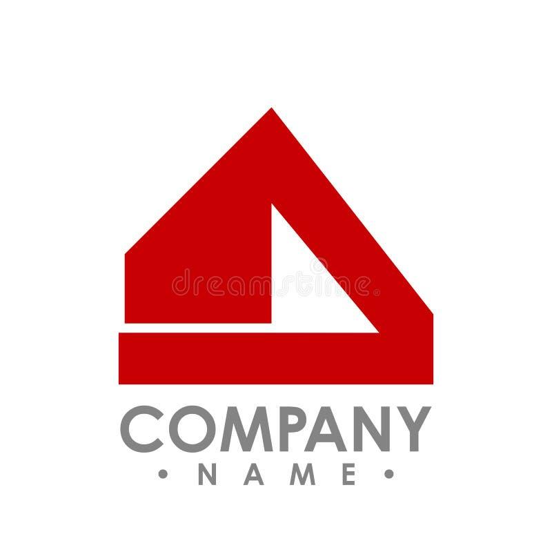 Abstrakcjonistyczny realty logo - Wektorowa loga pojęcia ilustracja Abstrac