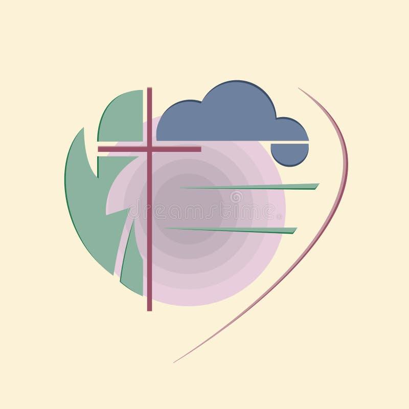 Abstrakcjonistyczny Religijny logo ilustracja wektor