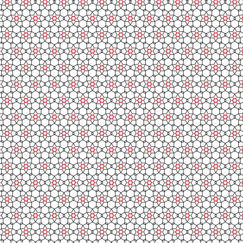 Abstrakcjonistyczny remis Wykłada Czerwoną gwiazdy siatki wzoru tła wektoru ilustrację ilustracji