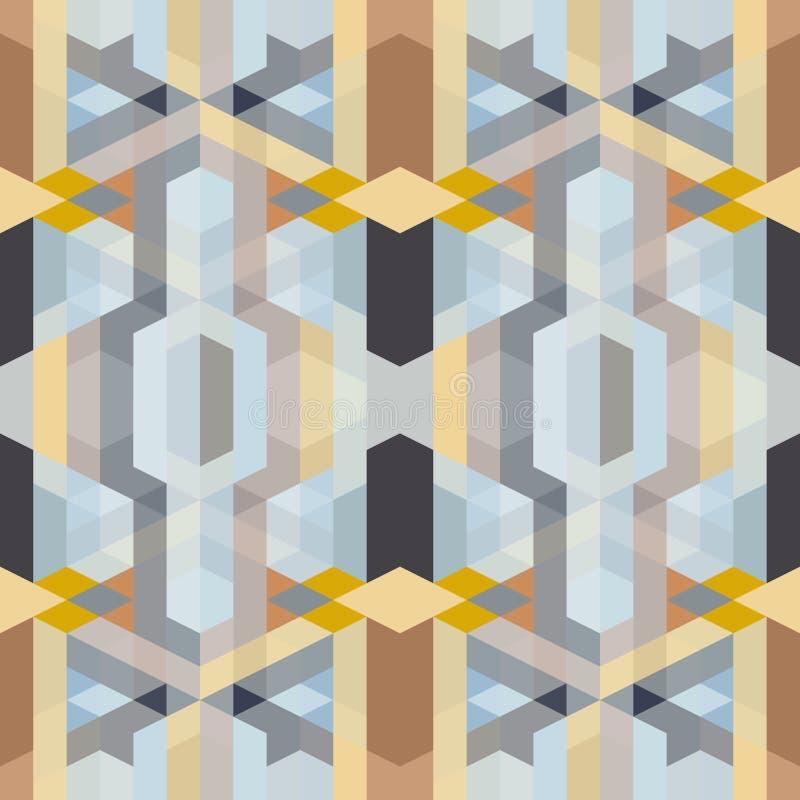 Abstrakcjonistyczny retro art deco geometryczny wzór ilustracji