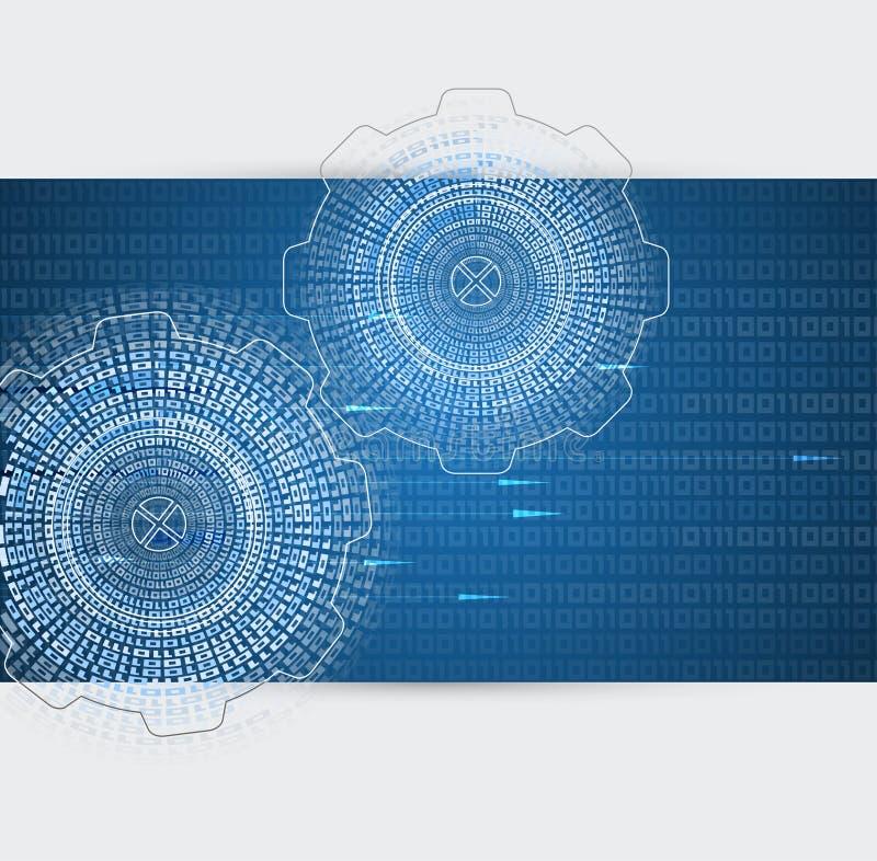Abstrakcjonistyczny retro cyfrowy informatyka biznesu tło ilustracji