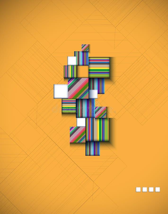 Abstrakcjonistyczny retro cyfrowy informatyka biznesu tło ilustracja wektor