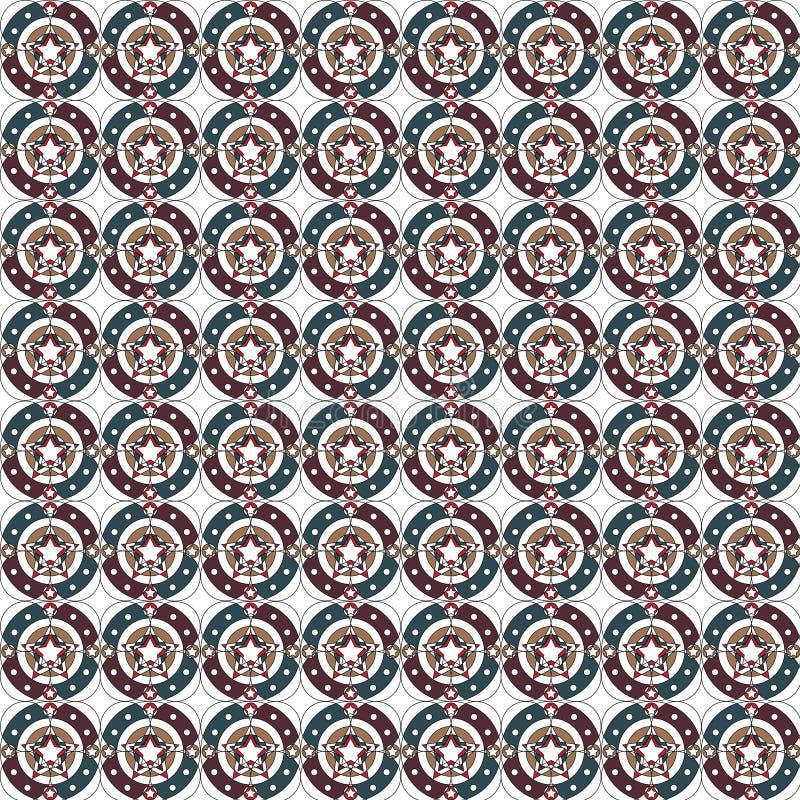 Abstrakcjonistyczny Retro Geometryczny bezszwowy wzór royalty ilustracja