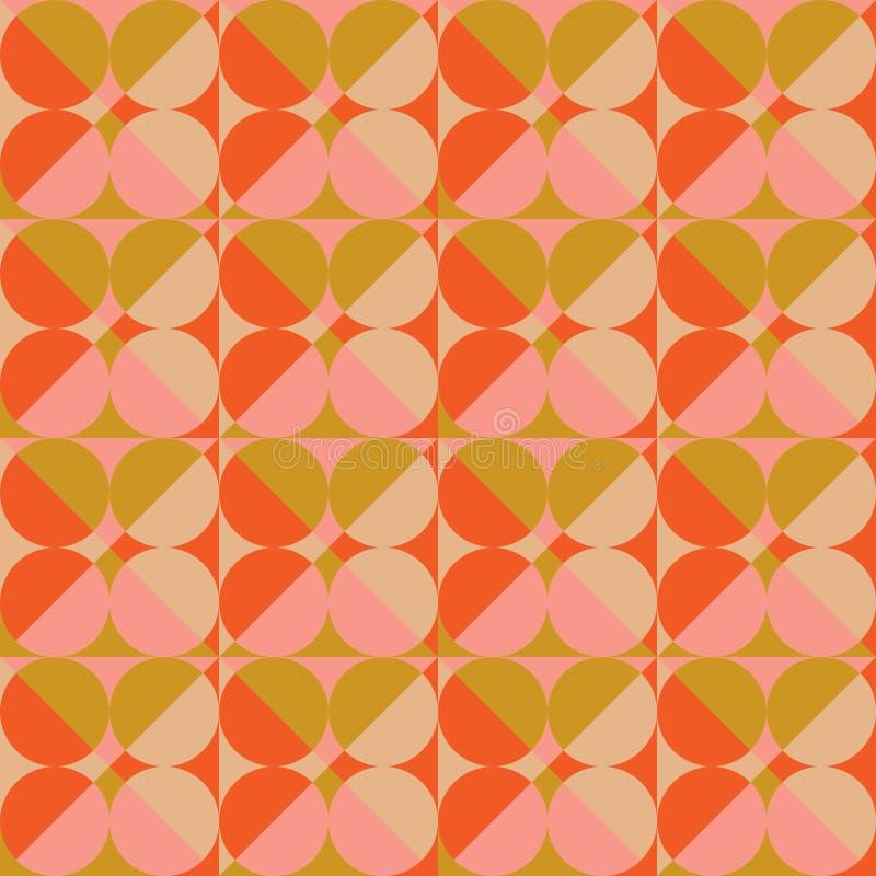 Abstrakcjonistyczny Retro Geometryczny tło ilustracji