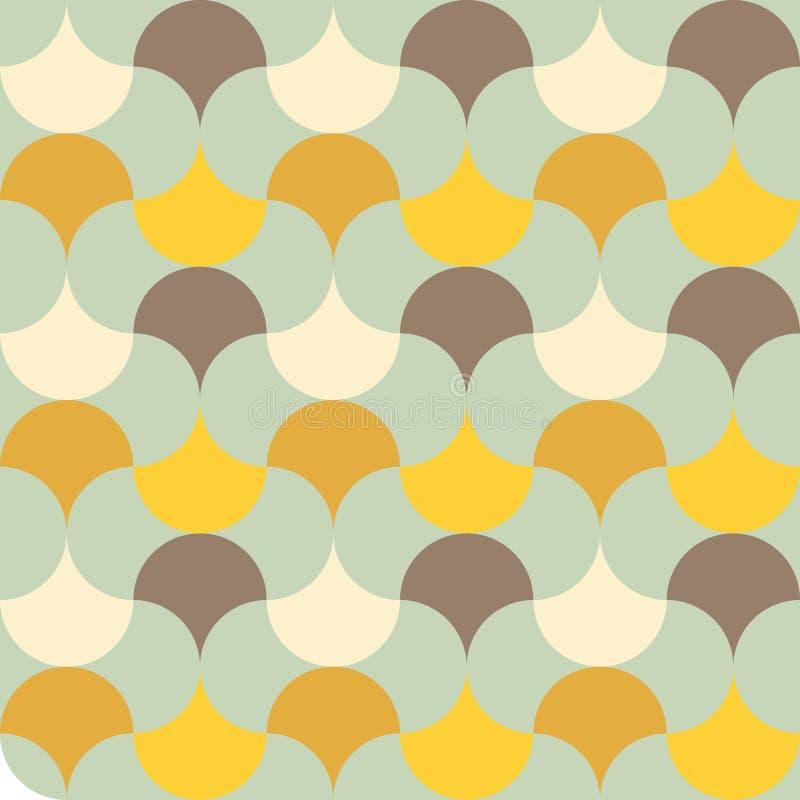 Abstrakcjonistyczny retro geometryczny wzór ilustracja wektor