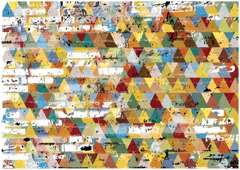 Abstrakcjonistyczny retro grunge trójboków tło zdjęcia stock