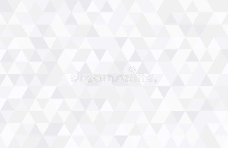 Abstrakcjonistyczny retro wzór geometryczni kształty Biały gradientowy mozaiki tło Geometrycznego modnisia trójgraniasty tło, fotografia stock