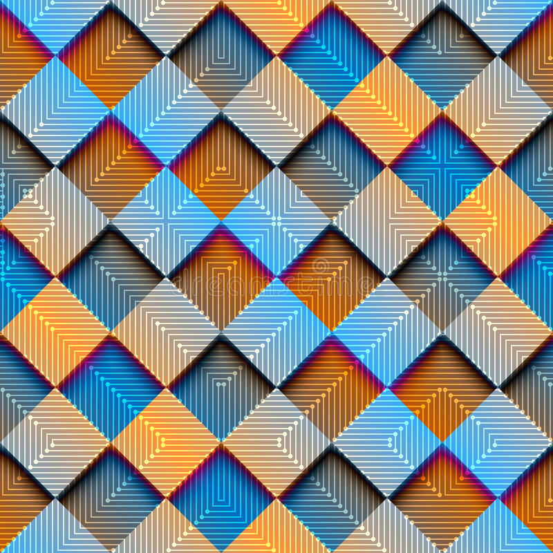 Abstrakcjonistyczny rhombus geometryczny z gradientowym skutkiem royalty ilustracja
