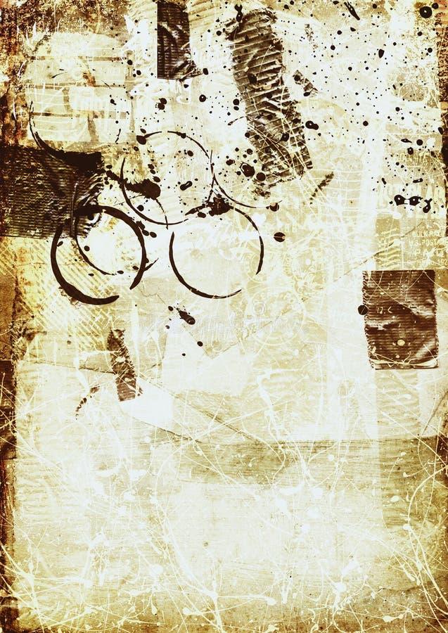 abstrakcjonistyczny rocznik ilustracja wektor