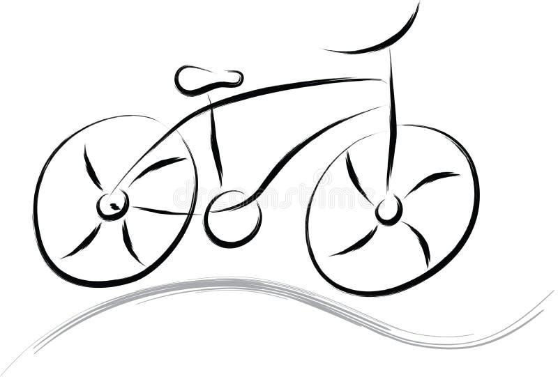 Abstrakcjonistyczny rower ilustracja wektor