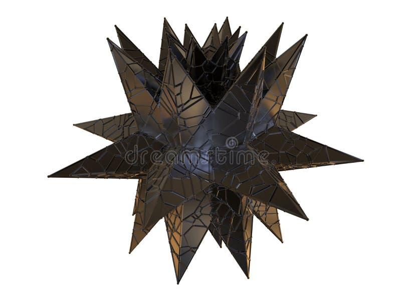 Abstrakcjonistyczny rozgwiazda kształt obrazy stock